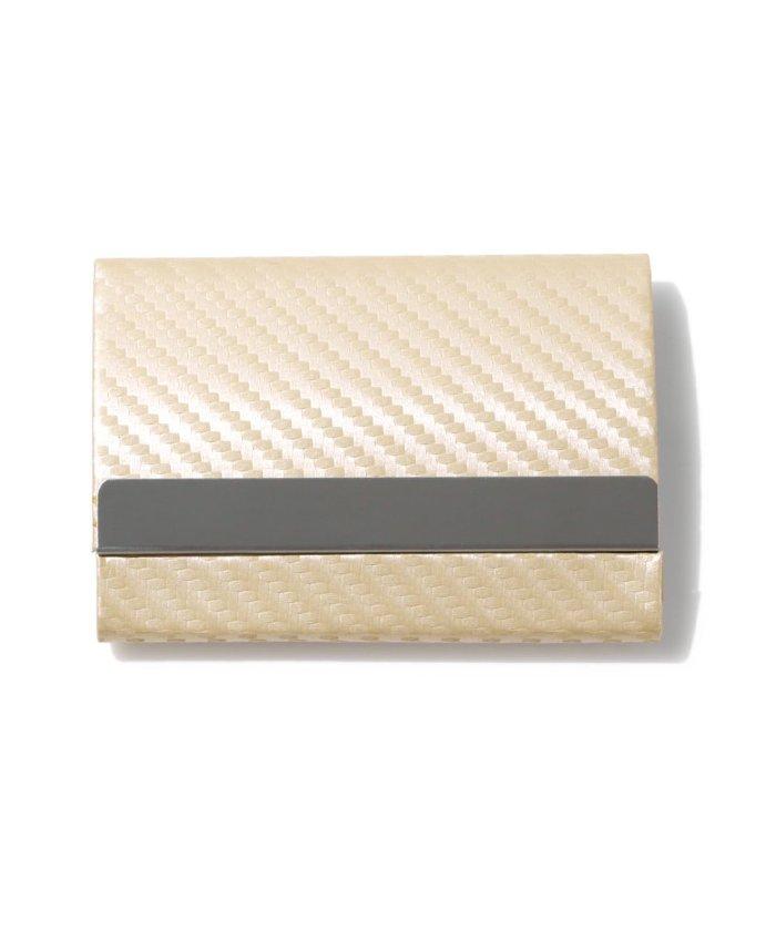 エクレボ カードケース メンズ スキミング防止「 両面収納 カーボンレザー 名刺入れ 」スリム レディース おしゃれ ピンク クレジットカード 磁気防止 ハードケース 大 ユニセックス シルバー MMM 【exrevo】