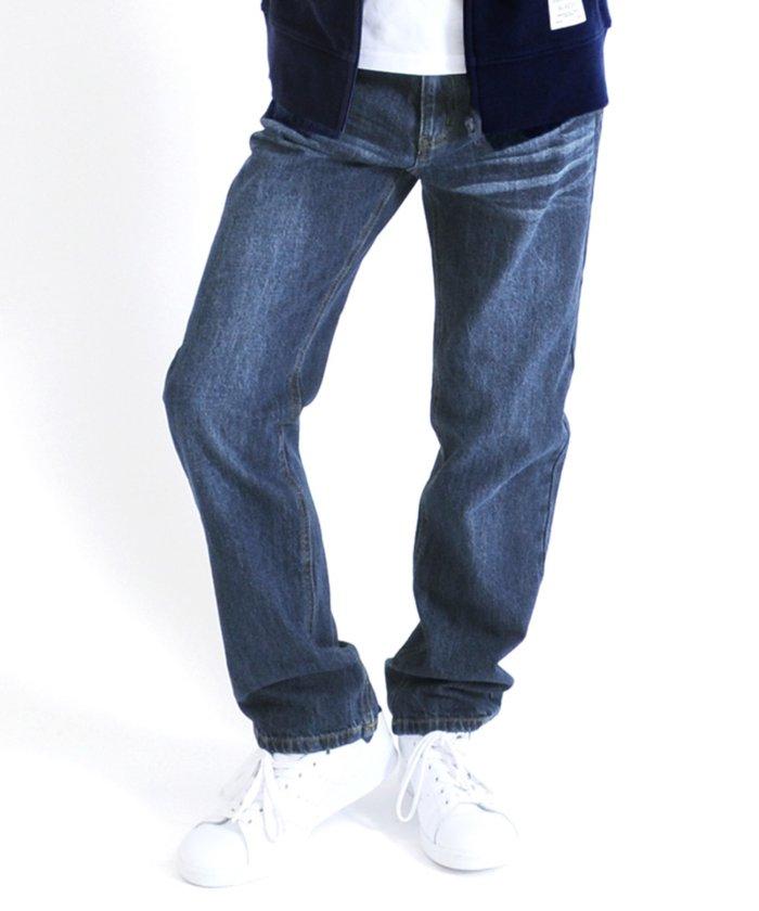 【30%OFF】 グラソス [ストレート]ヴィンテージ加工デニムパンツ キッズ ブルー 130cm 【GLAZOS】 【セール開催中】