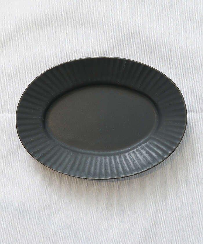 collex 《一部別注カラー》SAKUZAN 作山窯 StripeオーバルプレートS レディース ブラック F 【collex】