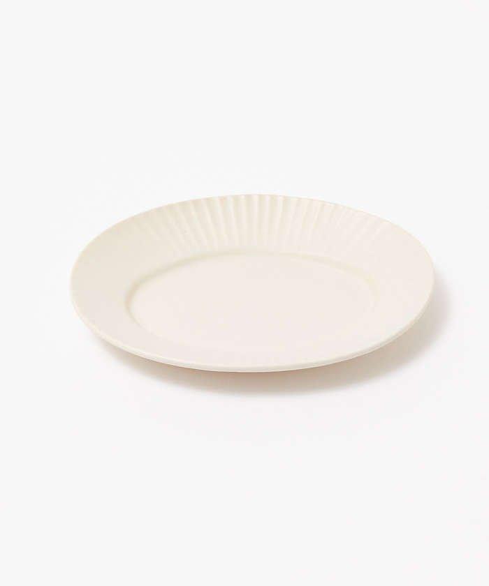collex 《一部別注カラー》SAKUZAN 作山窯 StripeオーバルプレートS レディース ホワイト F 【collex】