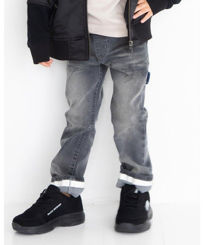 【50%OFF】 べべオンラインストア 配色ポケット ペインター デニム パンツ(100~160cm) キッズ ブラック 100cm 【BEBE ONLINE STORE】 【セール開催中】