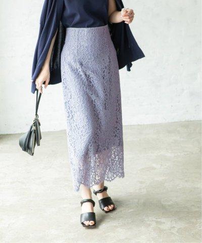 NOBLE/《予約》リバーレース Iラインスカート◆/503797384