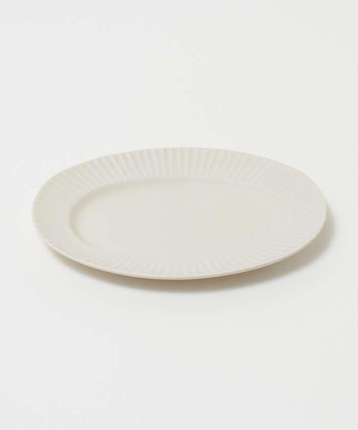 collex 《一部別注カラー》SAKUZAN 作山窯 StripeオーバルプレートL レディース ホワイト F 【collex】