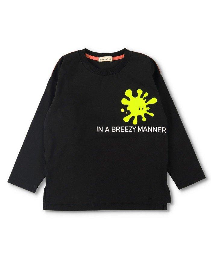 【55%OFF】 ブランシェス シリコンプリント長袖Tシャツ キッズ ブラック 90cm 【branshes】 【タイムセール開催中】