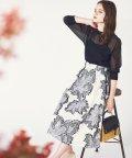 Noela/【美人百花3月号掲載】カットジャガードスカート /503812709