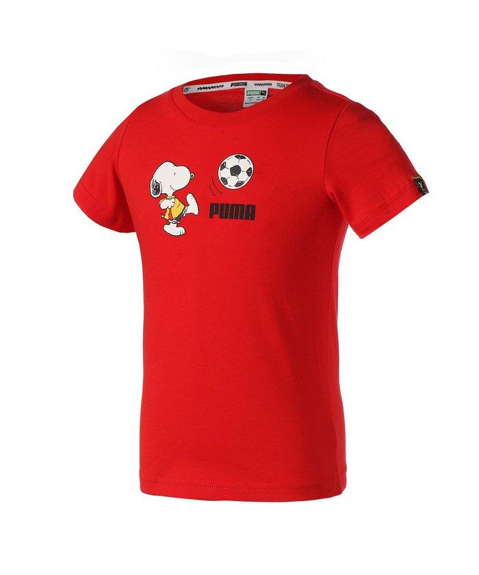 プーマ PUMA x PEANUTS キッズ Tシャツ 92−152cm キッズ HIGHRISKRED 116 【PUMA】