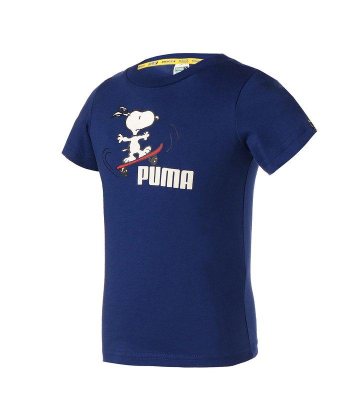プーマ PUMA x PEANUTS キッズ Tシャツ 92−152cm キッズ ELEKTROBLUE 116 【PUMA】