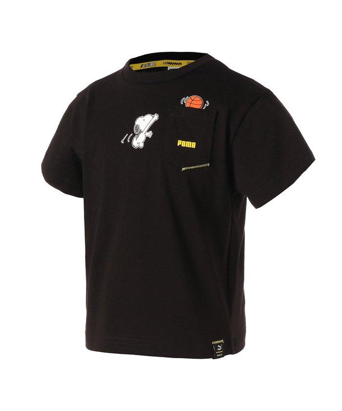 プーマ PUMA x PEANUTS キッズ ガールズ Tシャツ 92−152cm キッズ PUMABLACK 116 【PUMA】