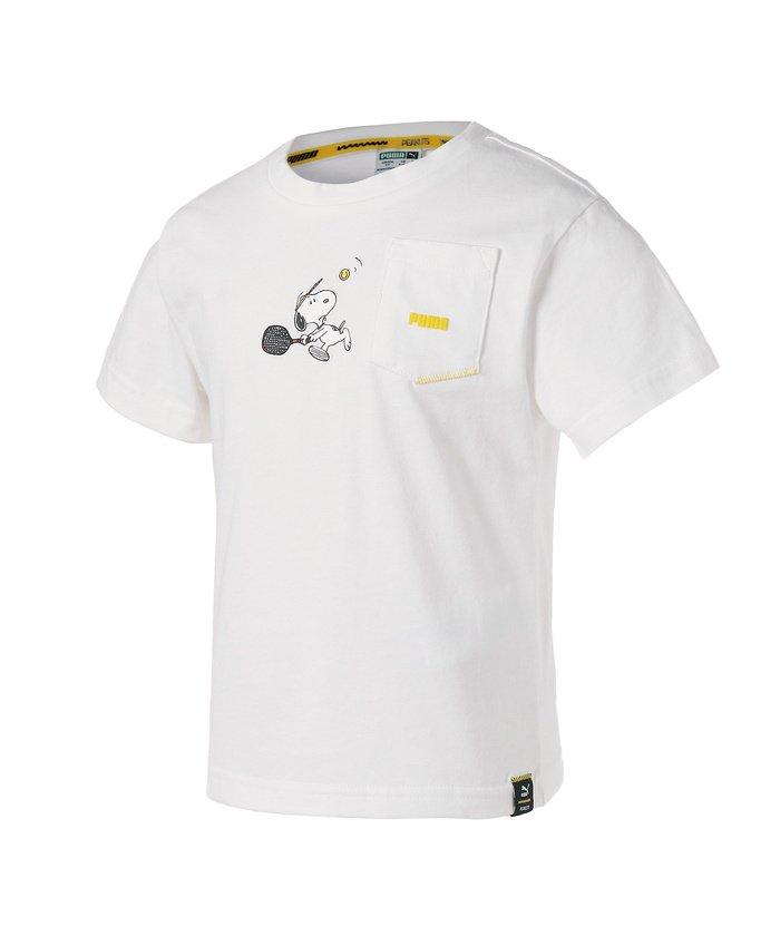 プーマ PUMA x PEANUTS キッズ ガールズ Tシャツ 92−152cm キッズ PUMAWHITE 128 【PUMA】