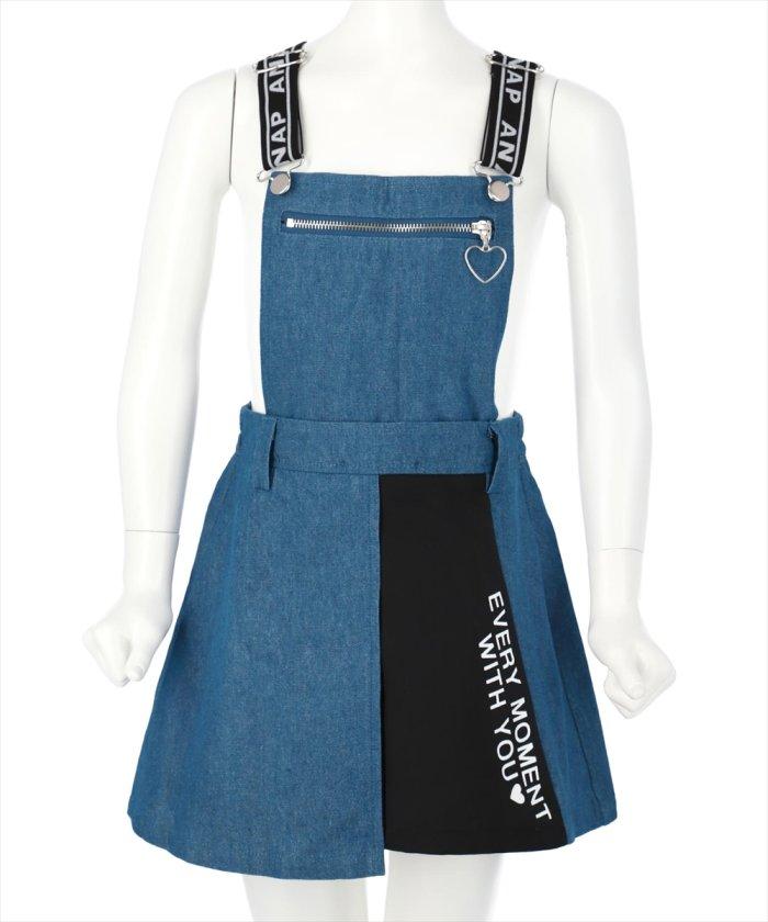 【35%OFF】 アナップキッズ 2WAYジャンパースカート キッズ ブルー S(105cm〜115cm) 【ANAP KIDS】 【タイムセール開催中】