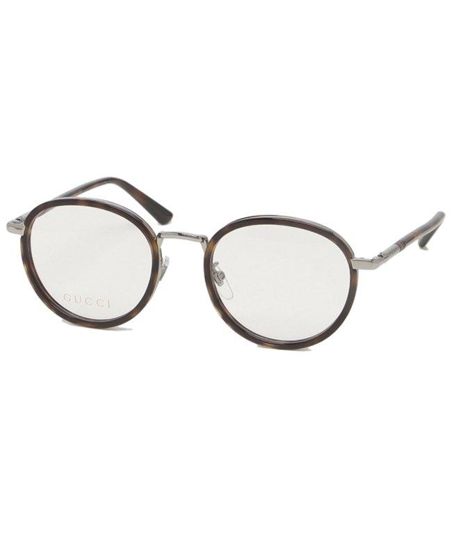 グッチ グッチ 眼鏡フレーム アイウェア メンズ レディース 50サイズ ブラウン シルバー アジアンフィット GUCCI GG0393OK 002 ユニセックス その他 フリー 【GUCCI】