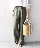 SHIPS WOMEN/《一部追加予約》【WEB限定】【手洗い可能】リネンキャンバスポケットパンツ◇/503863069