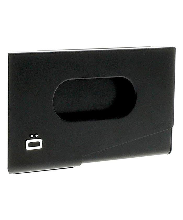グレンチェック アルミワンタッチカードケース ユニセックス ブラック F 【GLENCHECK】