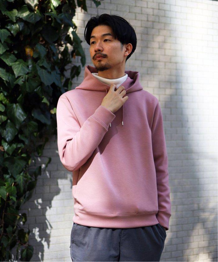 エディフィス ライトダンボールパーカー ユニセックス ピンク S 【EDIFICE】