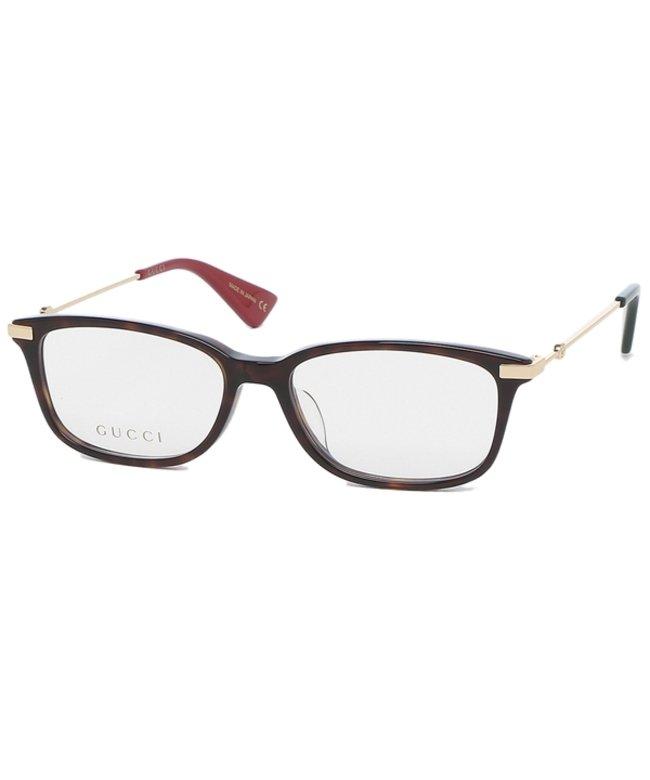グッチ グッチ 眼鏡フレーム アイウェア レディース 53サイズ ブラウン ゴールド アジアンフィット GUCCI GG0112OA 002 レディース その他 フリー 【GUCCI】