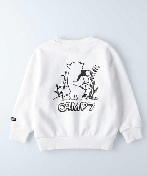ライトオン キャンプ7 ロゴプリントトレーナー キッズ ホワイト 155 【Right-on】