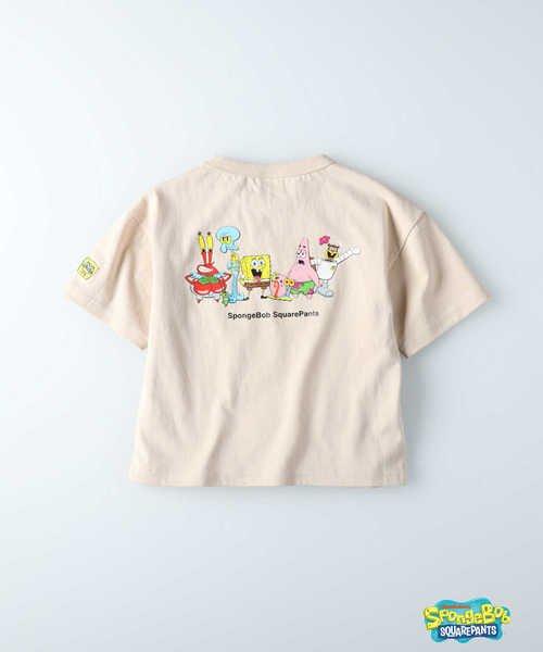 ライトオン スポンジ・ボブ プリントTシャツ(スポンジ・ボブ) キッズ ベージュ 130 【Right-on】