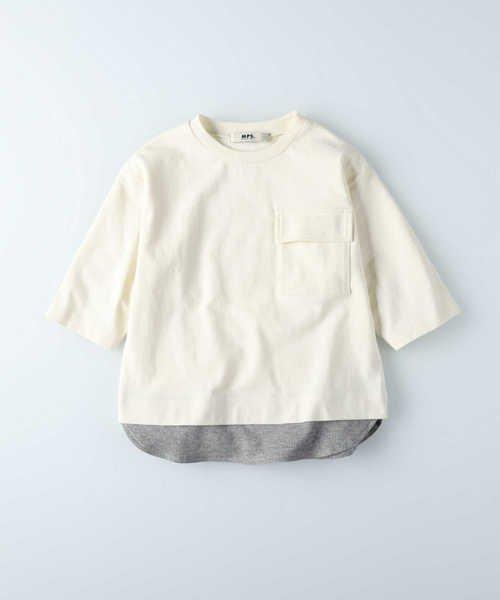 【65%OFF】 ライトオン エムピーエス 裾フェイクレイヤードTシャツ キッズ オフシロ 130 【Right-on】 【セール開催中】