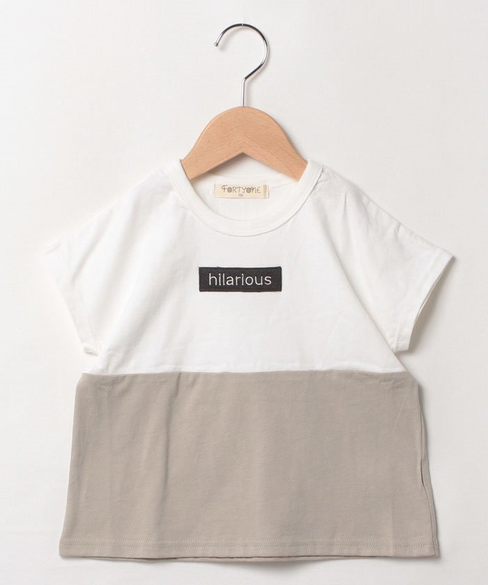 【10%OFF】 フォーティワン ロゴワッペンTシャツ キッズ ホワイト 150cm 【FORTYONE】 【タイムセール開催中】