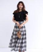 JUSGLITTY/【STORY6月号掲載】シアーチェックプリーツスカート/503916932