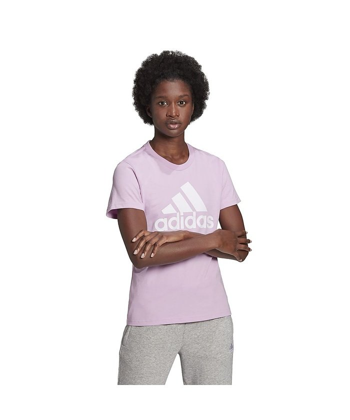 販売主:スポーツオーソリティ アディダス/レディス/エッセンシャルズ ロゴ 半袖Tシャツ / Essentials Logo Tee レディース クリアライラック/ホワイト S 【SPORTS AUTHORITY】