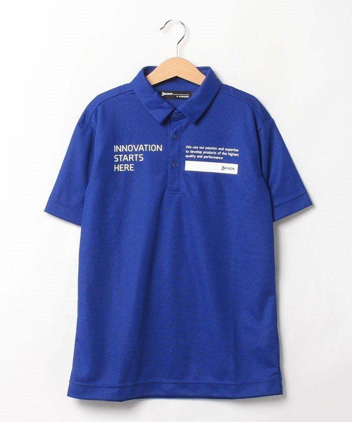 スリクソン 定番半袖シャツ メンズ ブルー系 130 【SRIXON】