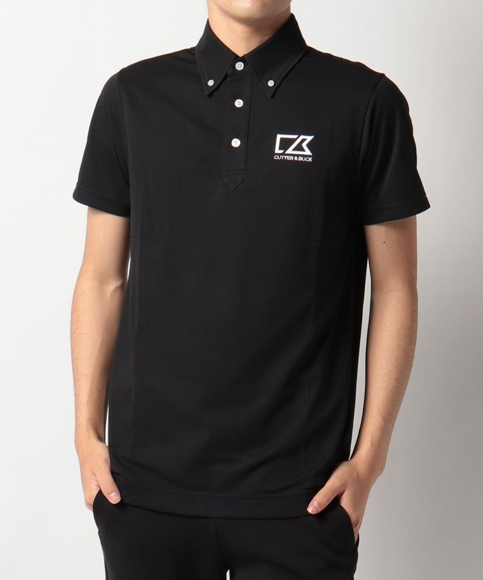 カッターアンドバック ロゴ刺しゅう入りボタンダウンシャツ メンズ ブラック系 LL 【CUTTER&BUCK】