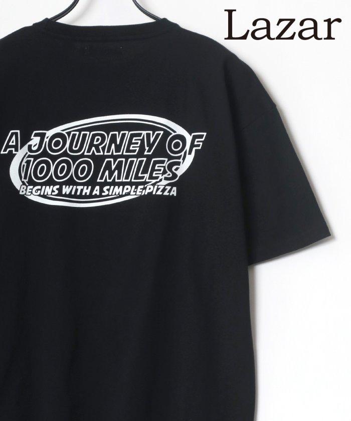 【30%OFF】 ラザル バックプリント Logo レトロ イラスト グラフィック ワンポイント ワッペン USAコットン Tシャツ メンズ 柄5 M 【LAZAR】 【タイムセール開催中】