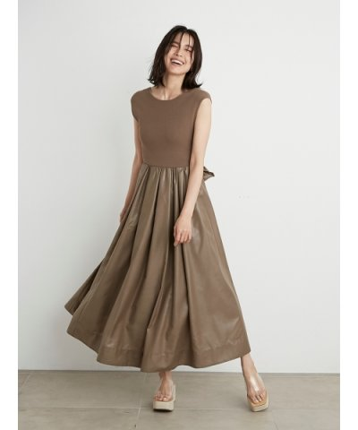 SNIDEL/Sustainableニットドッキングワンピース/504013605