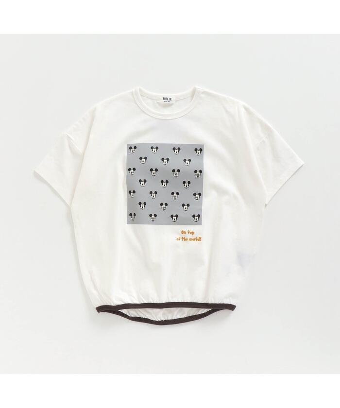エフオーオンラインストア ディズニーキャラクター裾絞りTシャツ キッズ オフホワイト 130 【F.O.Online Store】