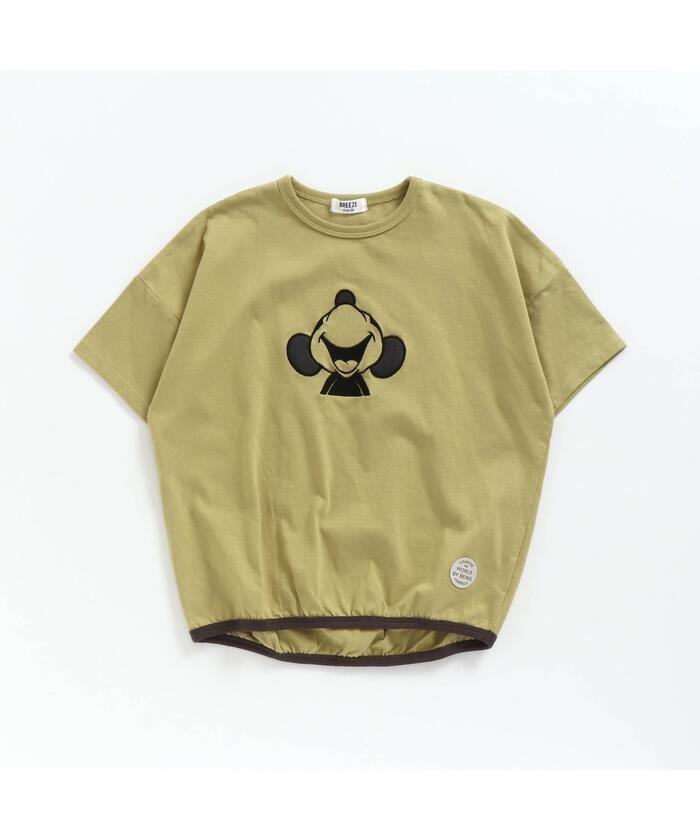 エフオーオンラインストア ディズニーキャラクター裾絞りTシャツ キッズ ライム 80 【F.O.Online Store】