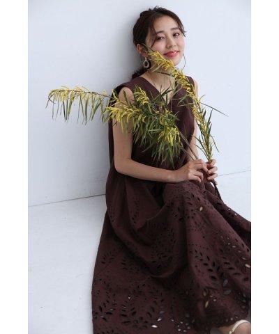 JUSGLITTY/裾刺繍Aラインワンピース/504022562