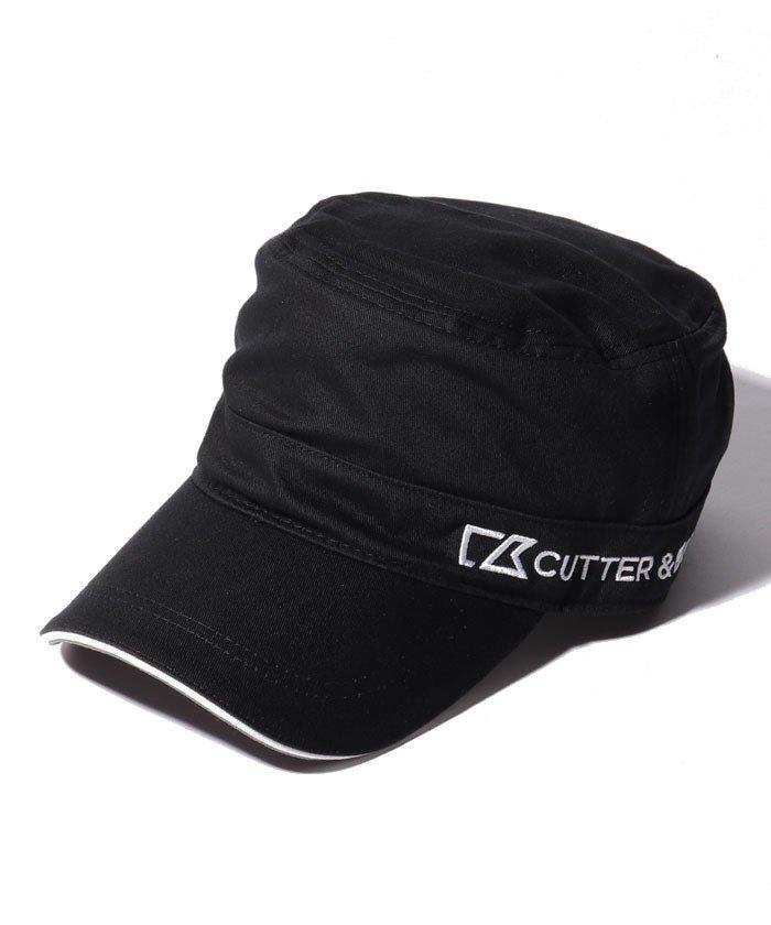 カッターアンドバック ロゴ刺しゅう入りワンポイントワークキャップ メンズ ブラック系 FREE 【CUTTER&BUCK】