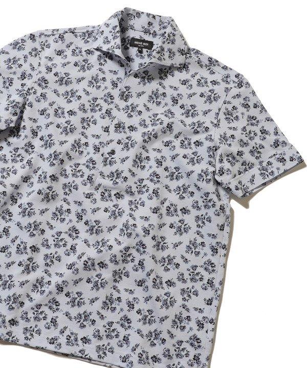 メンズビギ ドライマスター フラワープリントポロシャツ メンズ サックスブルー 1 【Men's Bigi】