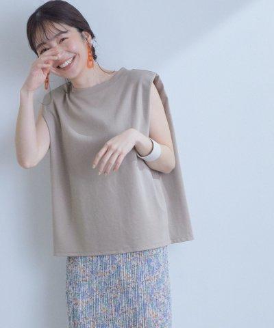 ViS/【With7月号掲載】【星玲奈さんコラボ】ショルダーパットフレンチTシャツ/504031097