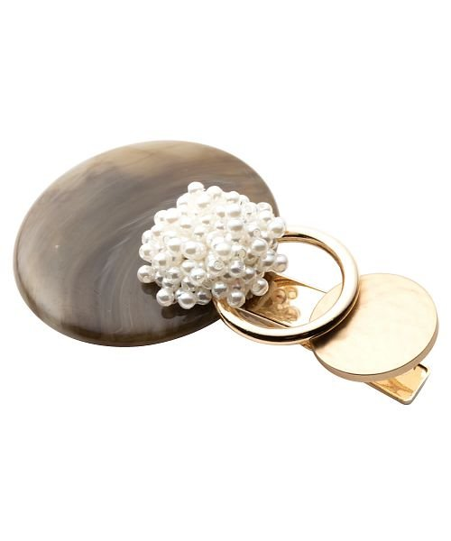 クリームドット バブルパールが艶めくマルチパーツヘアクリップ レディース ブラウン ワンサイズ 【cream dot】