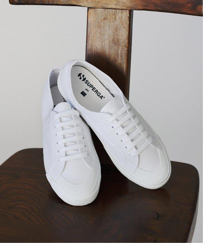 エディフィス per ANK 2390 ミリタリーキャンバススニーカー メンズ ホワイト 43 【EDIFICE】
