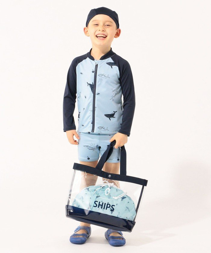 シップス SHIPS KIDS:ビーチ バッグ キッズ ネイビー ONESIZE 【SHIPS】