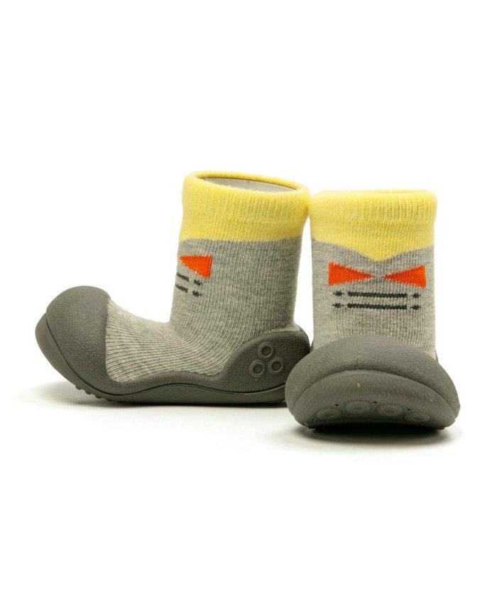 フットプレイス アティパス Attipas ベビー 靴下 シューズ プレゼント ギフト AP−2700 キッズ グレー XL(13.5cm) 【FOOT PLACE】