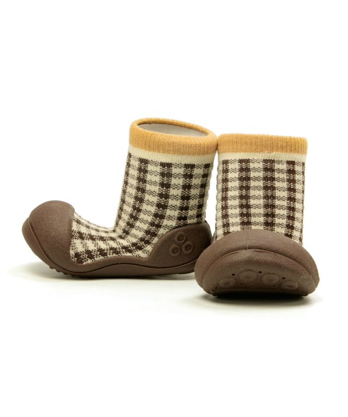 フットプレイス アティパス Attipas ベビー 靴下 シューズ プレゼント ギフト AP−2700 キッズ ブラウン系1 S(10.8cm) 【FOOT PLACE】