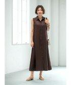 STYLE DELI/【LUXE】リネン100%ノースリーブシャツドレス/504115153