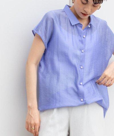 NOLLEY'S/【WEB限定カラーあり】シアースラブ半袖パール釦2wayシャツ/504069036