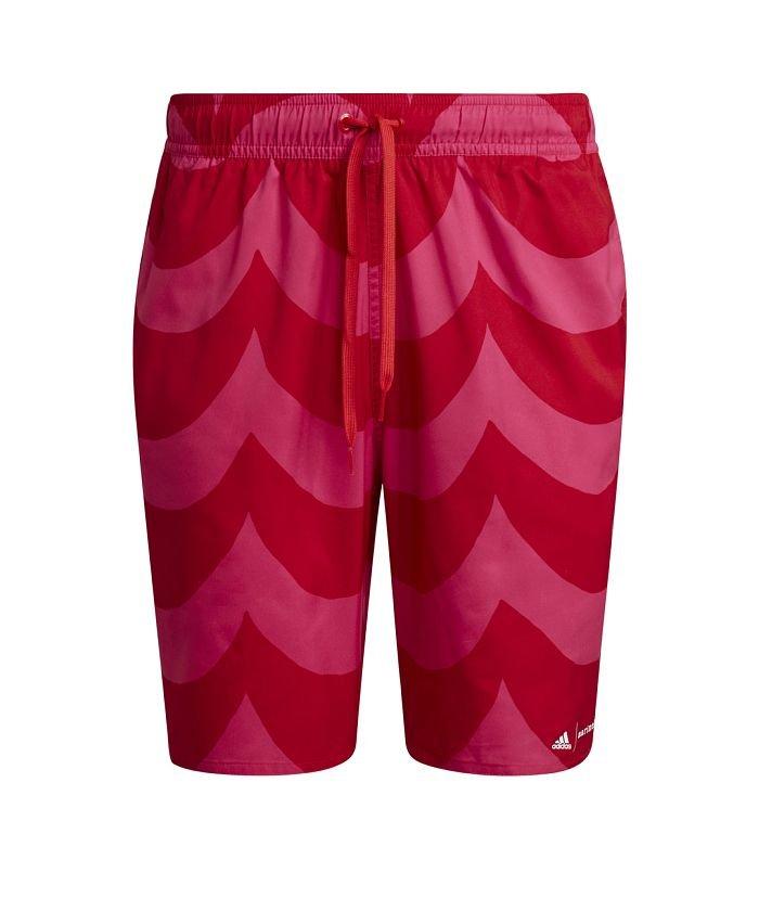アディダス マリメッコ クラシック丈 グラフィック スイムショーツ / Marimekko Classic−Length Graphic Swim Shorts メンズ ピンク M 【adidas】