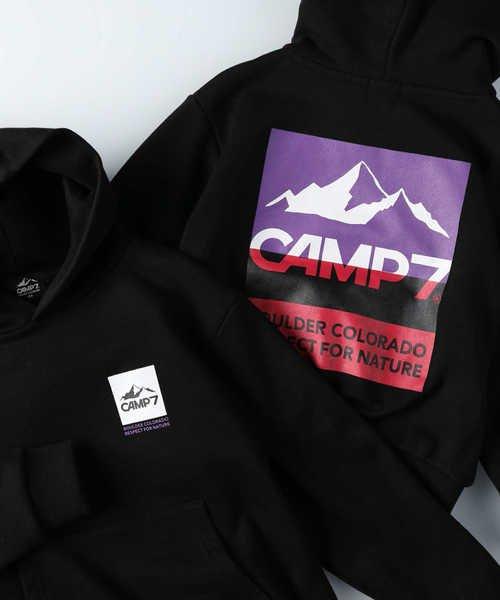ライトオン キャンプ7 ロゴプリントパーカー キッズ ブラック 140 【Right-on】