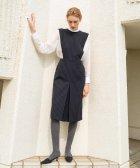BACCA/【WEB先行予約】ストライプウールギャバジン ジャンパースカート/504189573