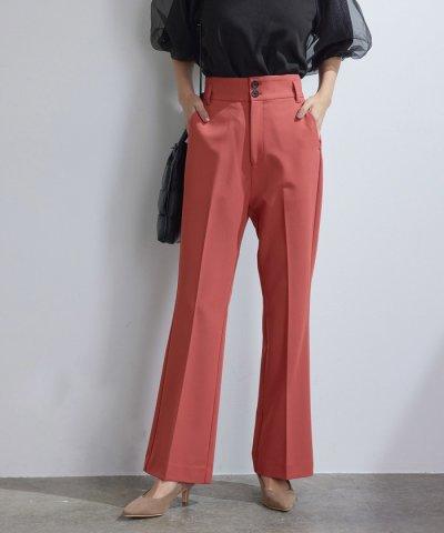 vis-`a-vis/【vis-`a-vis】美シルエットハイウエストカラーフレアパンツ【洗濯機可】/504196949