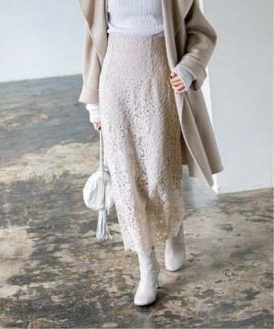 NOBLE/リバーレースIラインスカート◆/504201946