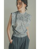 CLANE/CHINTZ FLOWER SQUARE SLEEVE TOPS/504211004