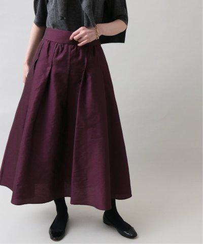 IENA/デザインシャンタンギャザーフレアスカート◆/504270706