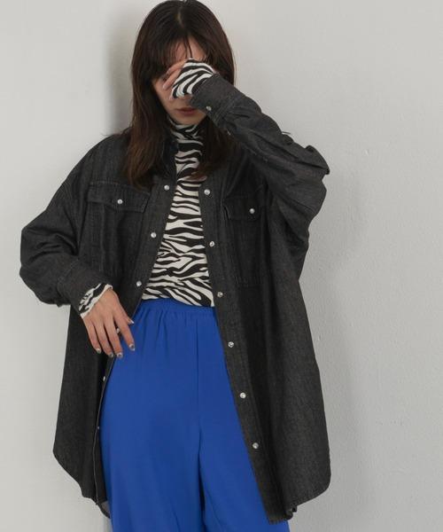 黒デニムシャツ/HOLIDAY